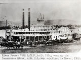 """War Eagle"" steamboat, built in 1854, on the Tennessee River"